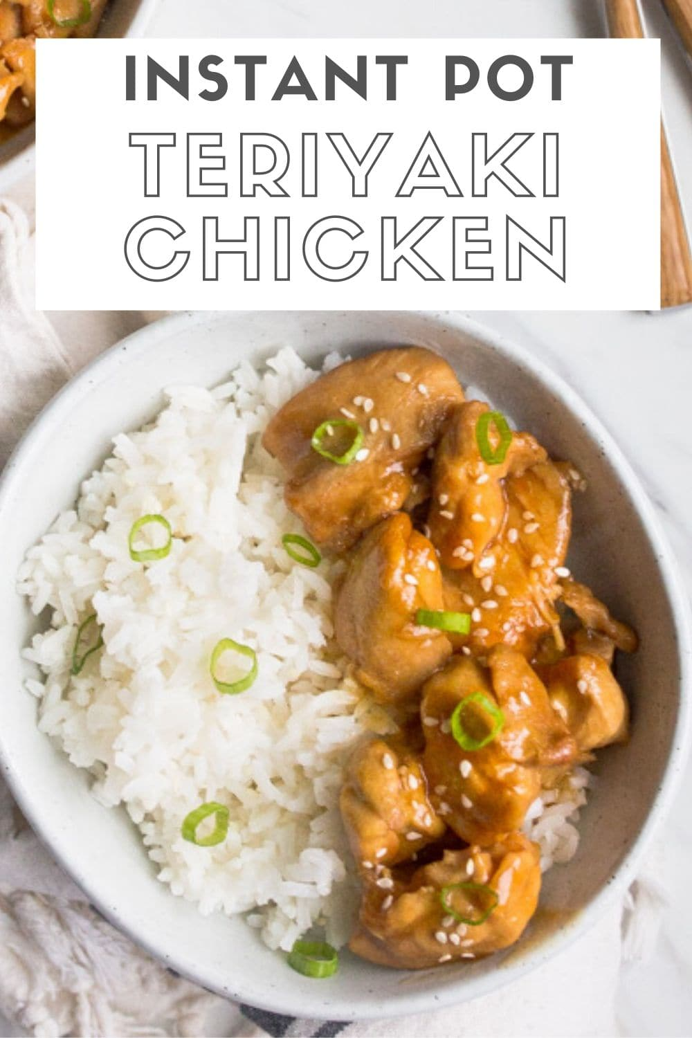 Instant pot teriyaki chicken is meltingly tender chicken bites in a sweet and salty teriyaki sauce. Homemade teriyaki sauce and chicken thighs bites make this a quick and kid friendly chicken dinner.