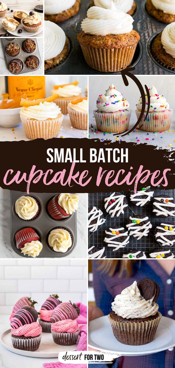 Recipe collection of small batch cupcakes.