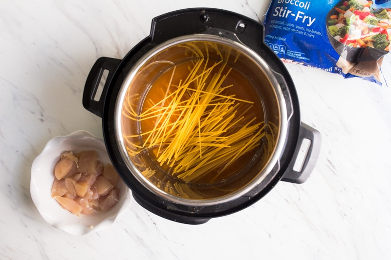 layering noodles in instant pot