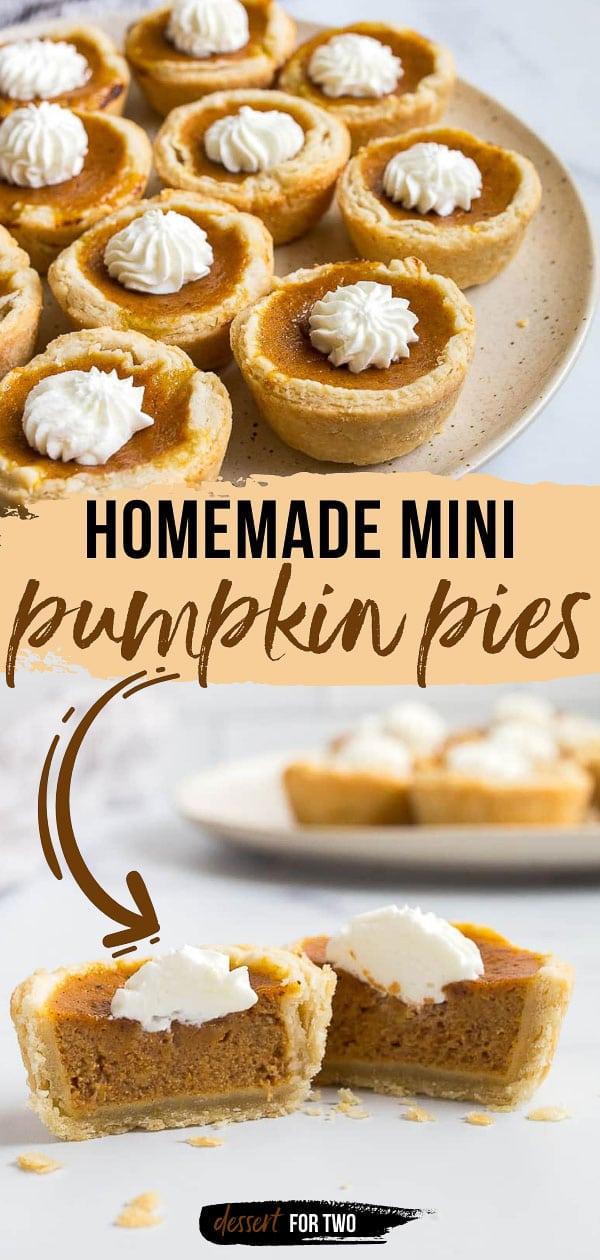 Mini pumpkin pies in a muffin pan.