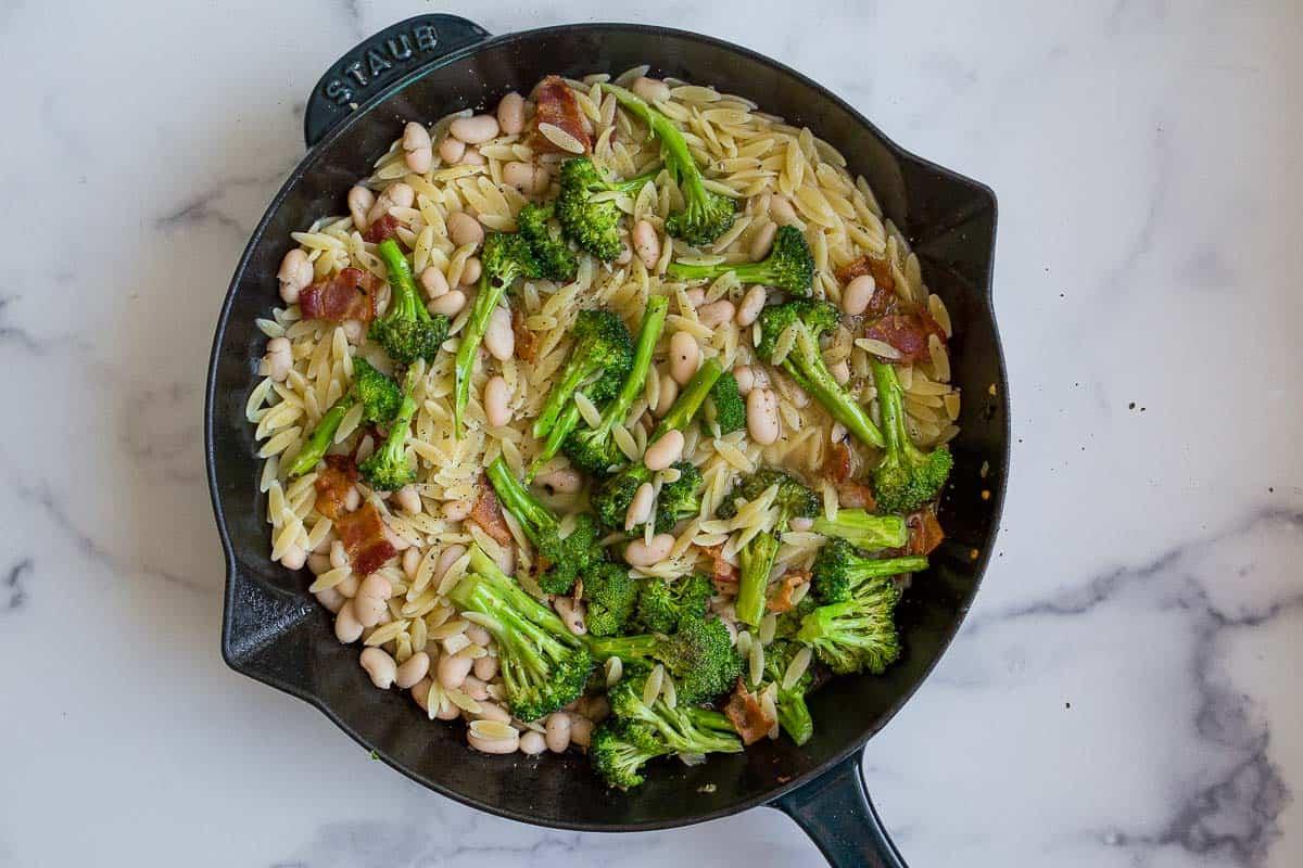 orzo with broccoli
