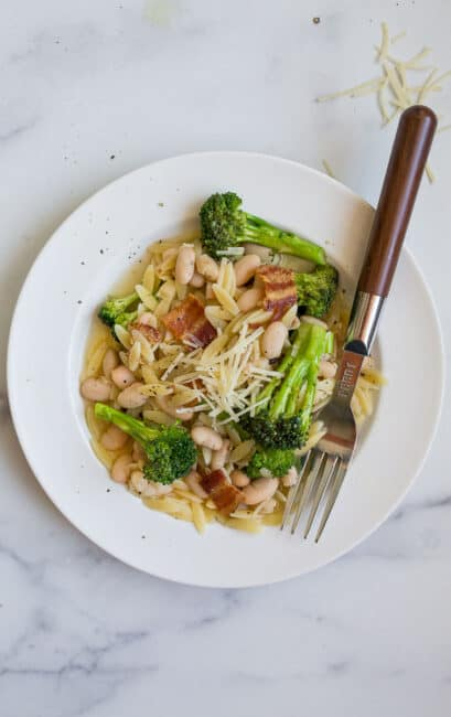 orzo pasta with broccoli