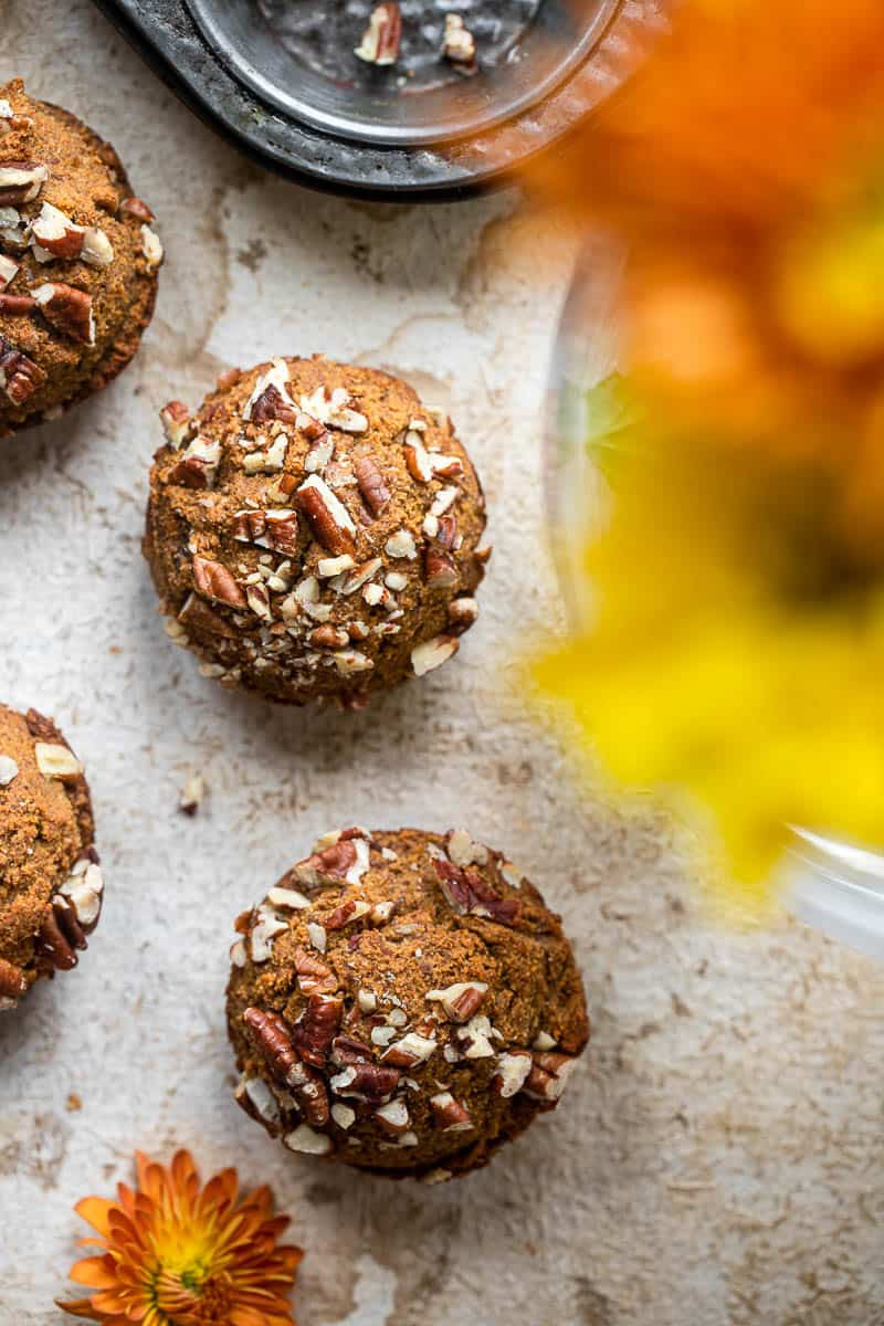 whole30 healthy pumpkin muffins
