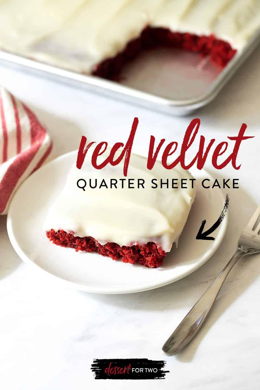 red velvet quarter sheet cake