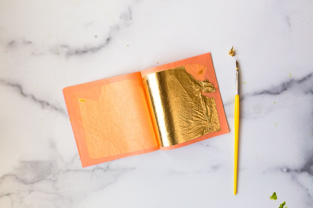 how to use edible gold leaf