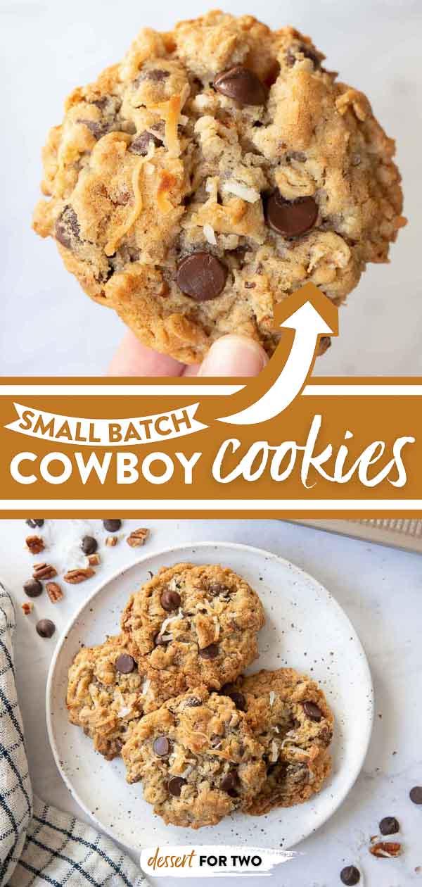 Cowboy cookies on plate.