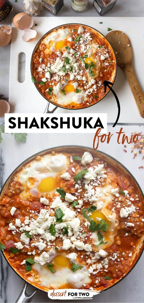 Shakshuka with feta and Israeli couscous, recipe from Molly On The Range by Molly Yeh.