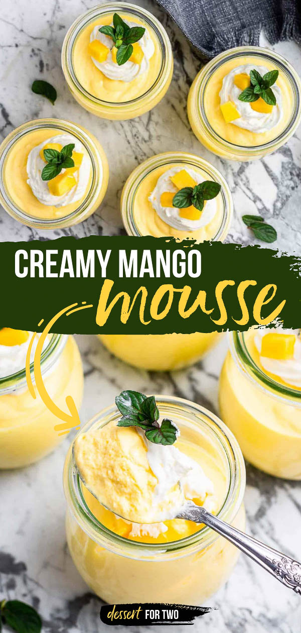 Creamy mango mousse in the blender.