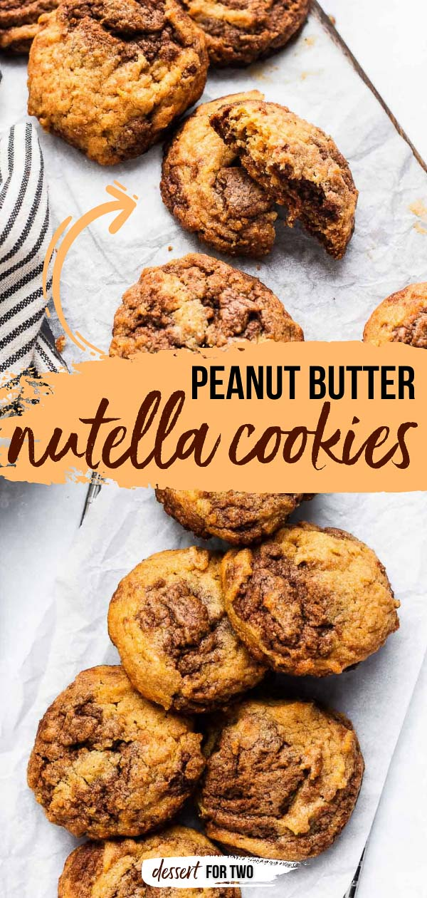 Swirled nutella peanut butter cookies.