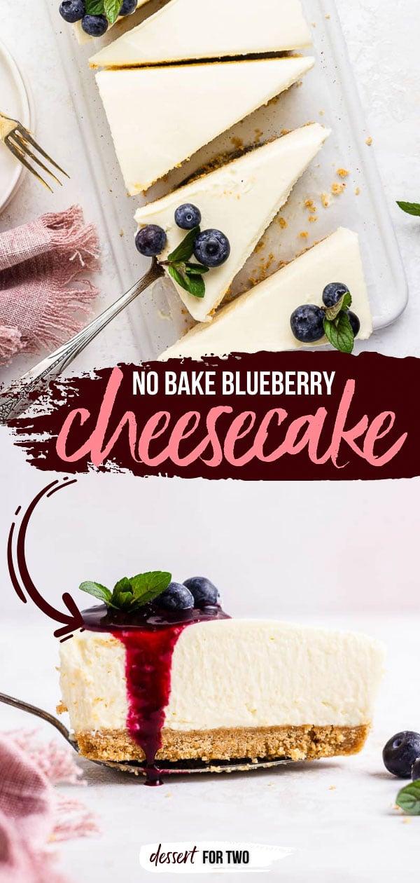 No bake blueberry cheesecake pin.