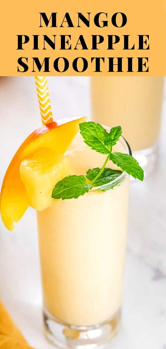 How to make a mango smoothie in the blender.