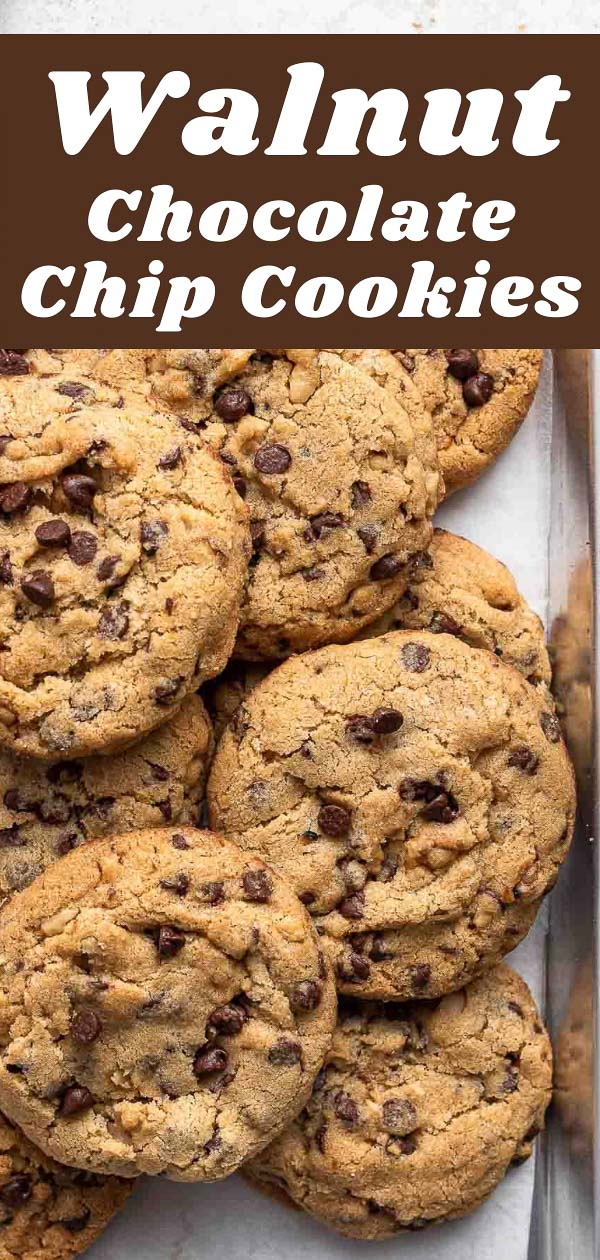 Walnut chocolate chip cookies.